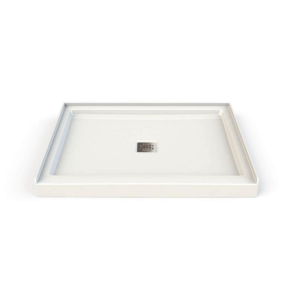 MAAX 34-inch x 42-inch x 3-inch Rectangular Shower Base with Centre Square Drain in White