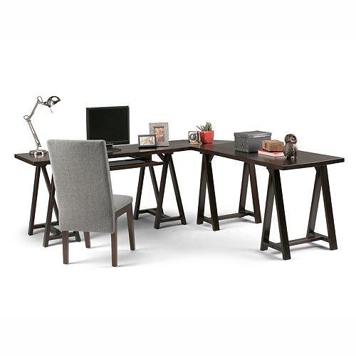 Sawhorse L-Shape Corner Desk