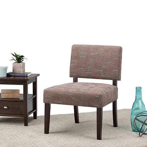 Virginia Accent Chair in Brown & Grey