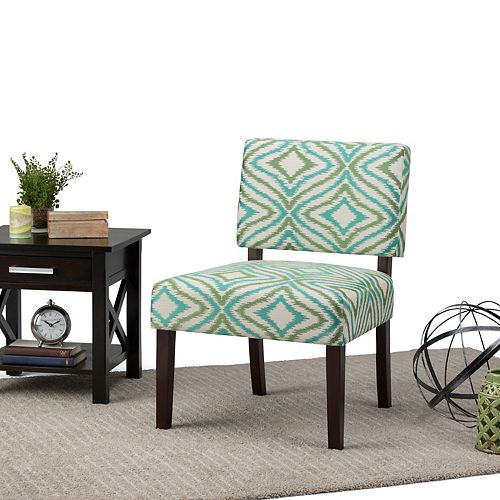 Virginia Accent Chair in Green & Grey