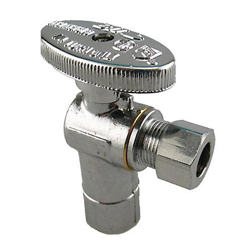 Packs de plomberie par JAG- 1/2 po PEX x 3/8 po COMP Vanne d'arrêt (2 unités)