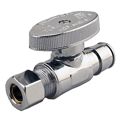 Jag Plumbing Packs -1/2 Inch Cold Expansion PEX x 3/8 Inch COMP Shut Off Valve(2 -pack)