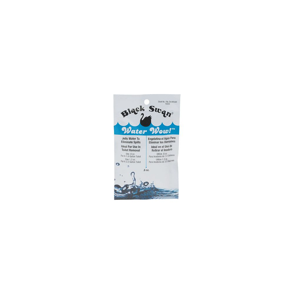 Black Swan Jag Plumbing Packs -12 Packets of Black Swan Water Wow Water Jelling Packets