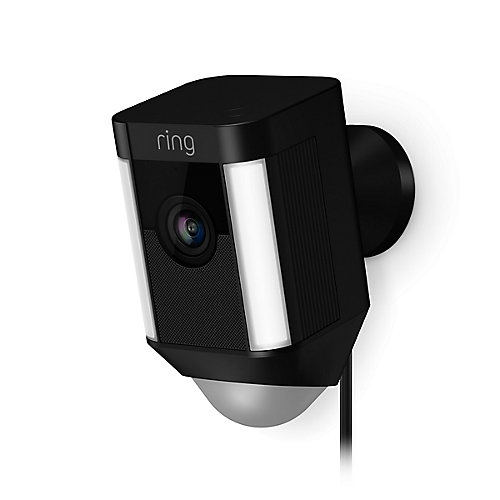 Spotlight Cam Wired Security Camera in Black