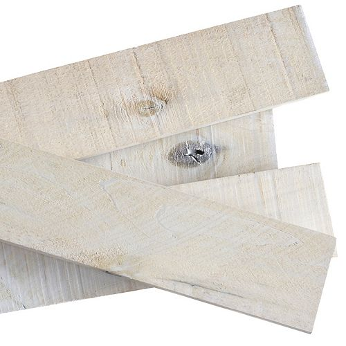 THD Generic 1/2 in. x 4 in. x 4 ft. White Wash Weathered Hardwood Board (8-Piece)