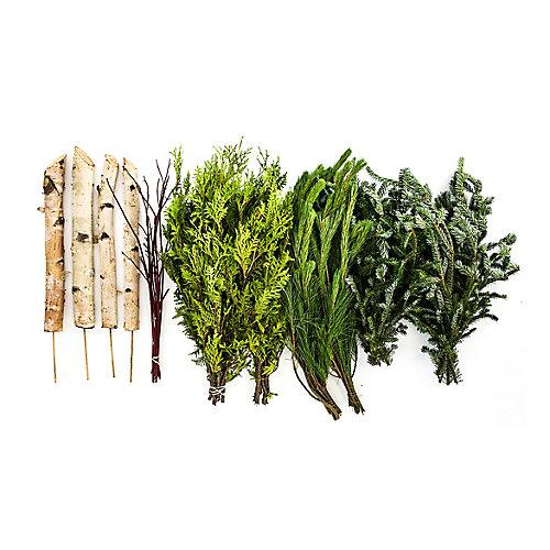 DIY Evergreen Urn Kit (Makes 2 Urn Arrangements)