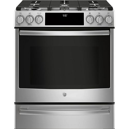 "30"" 5.6 cu. ft. Single Oven Dual-Fuel Gas Range with Self-Cleaning Convection Oven in Stainless Steel"