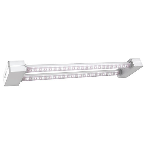 2 ft. 2-Light 19W White LED Full Spectrum Linkable Grow Light