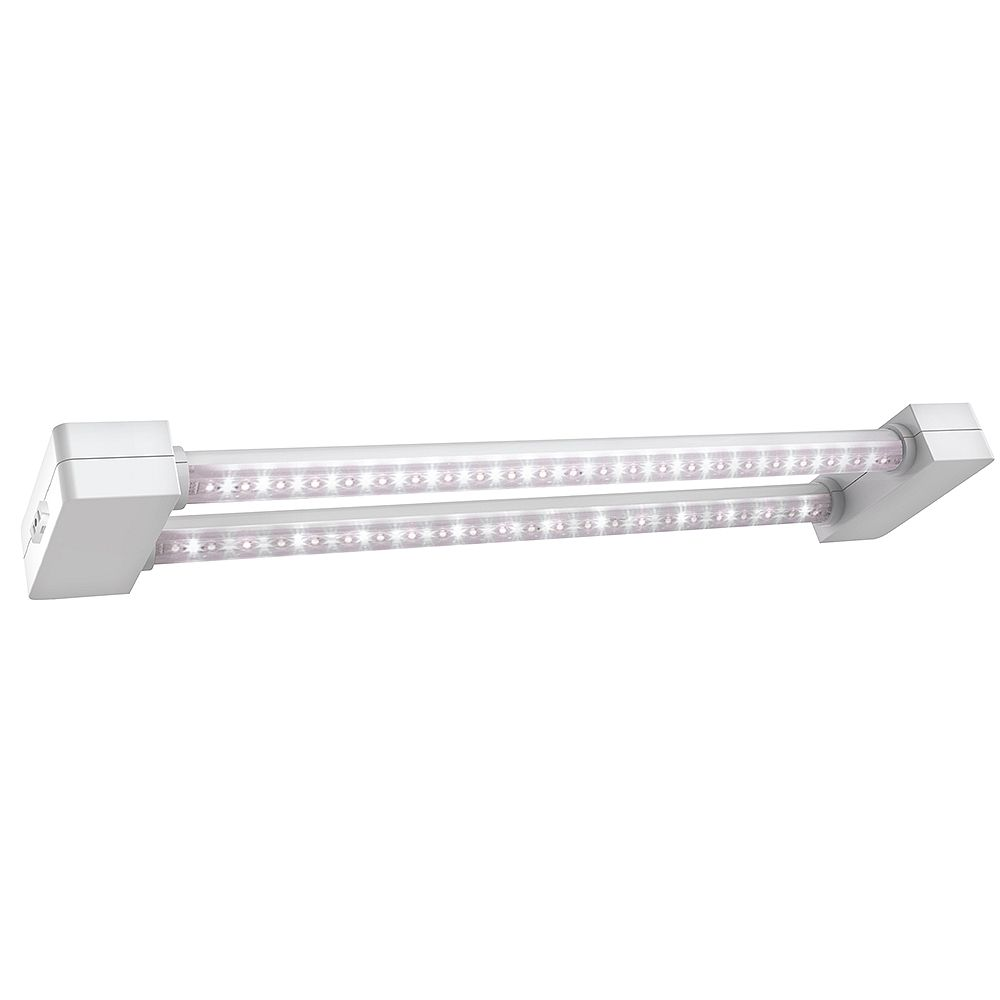 2 ft 2 light 19 watt white full spectrum led non dimmable indoor linkable plant grow light fixture