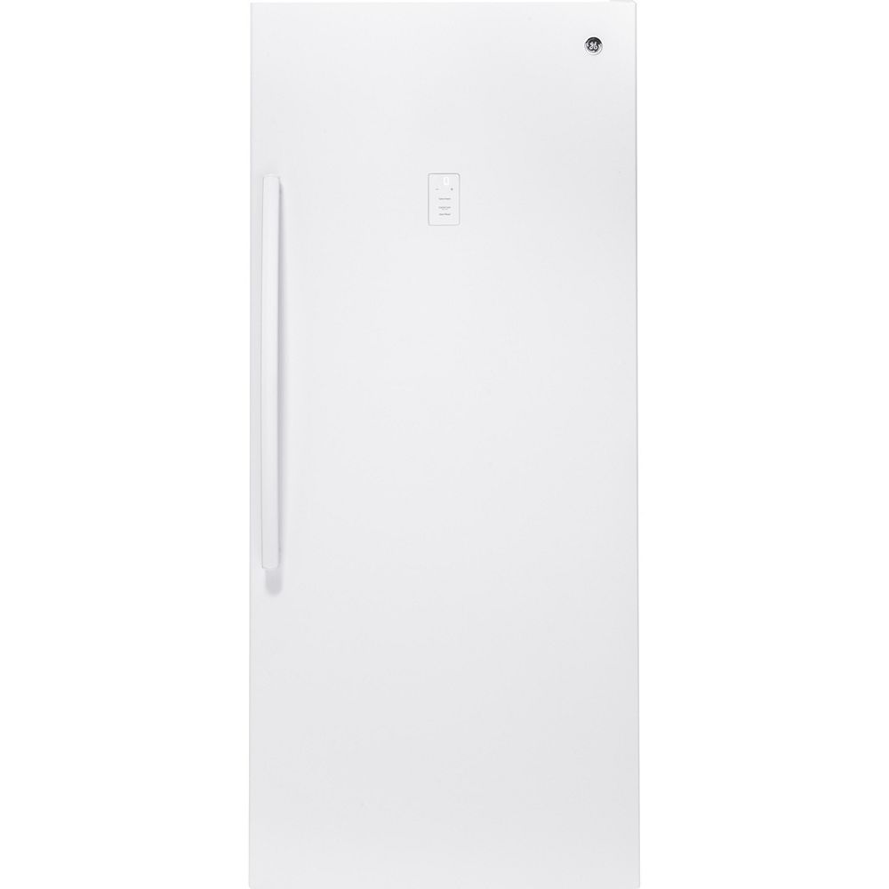 GE 21.3 cu. Ft. Frost Free Upright Freezer in White - ENERGY STAR®