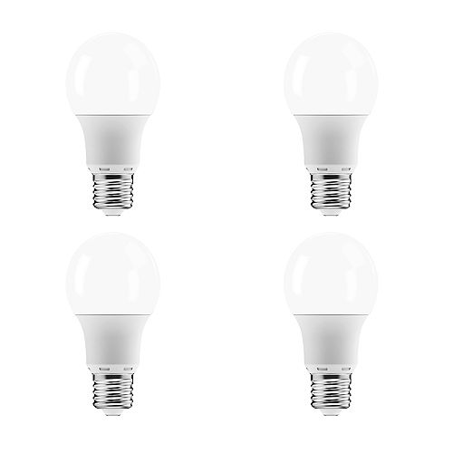 Ecosmart 60W Equivalent Soft White (2700K) A19 Dimmable LED Lightbulb (4-Pack) - ENERGY STAR