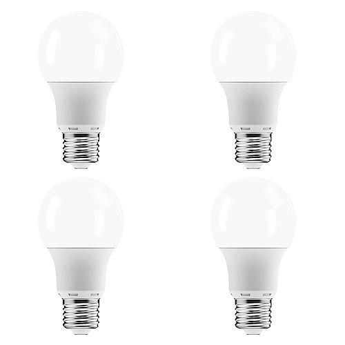 Ecosmart Ampoule DEL à int. var. A19 ENERGY STAR, équival. de 60 W, 5 000 K, lumière naturelle, ens. de 4