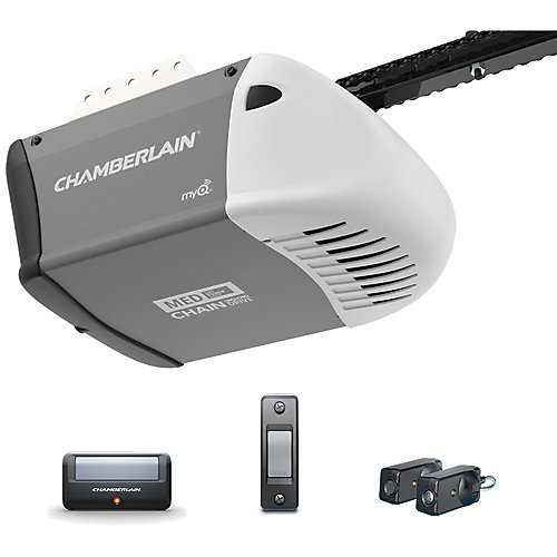 1/2 HP Heavy-Duty Chain Drive Garage Door Opener with MED Lifting Power