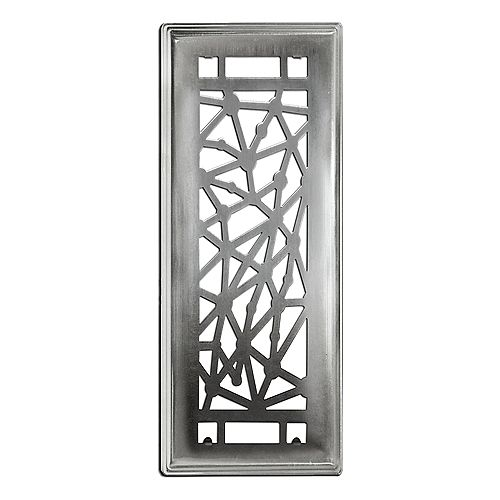 Hampton Bay Connections 3-inch x 10-inch Beveled Edge Brushed Steel Floor Register (3-Pack)