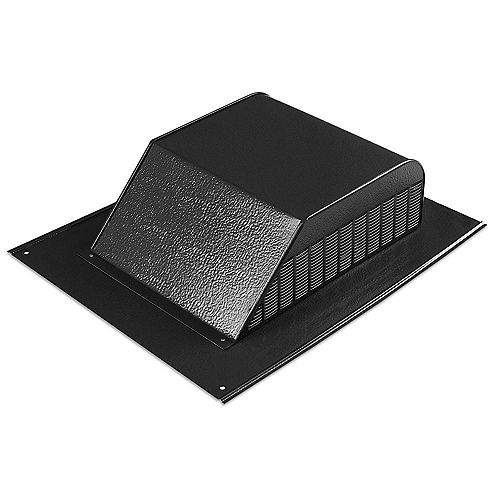 60 sq.-inch NFA Aluminum Slant Back Roof Louver Static Vent in Black with Weather Filter