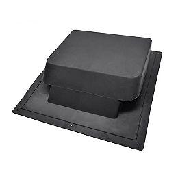 Évent statique de 37 pouces en résine NFA à haute résistance aux chocs, à profil très bas et à l'arrière du toit, en noir