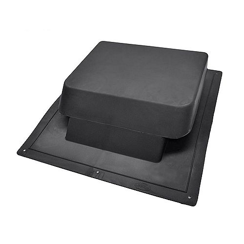 37-inch NFA High Impact Resin Super Low-Profile Slant Back Roof Louver Static Vent in Black