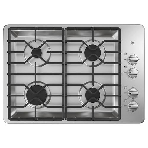 30-inch W Gas Cooktop with 4-Burners Including Power Burners in Stainless Steel
