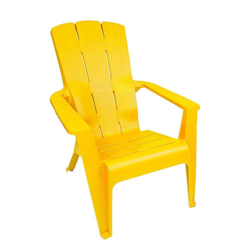 Gracious Living chaise adirondack a contour, jaune
