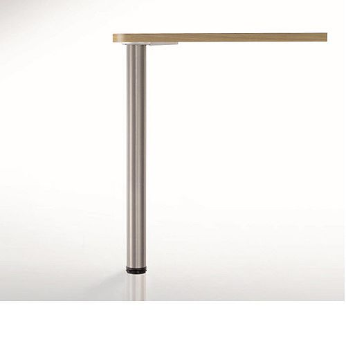 (4-Pack) Adjustable Table Leg, 34 1/4 in (870 mm), Brushed Chrome