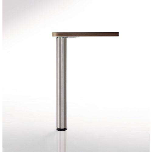 Adjustable Table Leg, 34 1/4 in (870 mm), Brushed Nickel