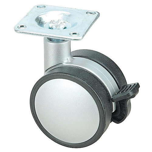 Contemporary Twin Wheel Casters - Plate