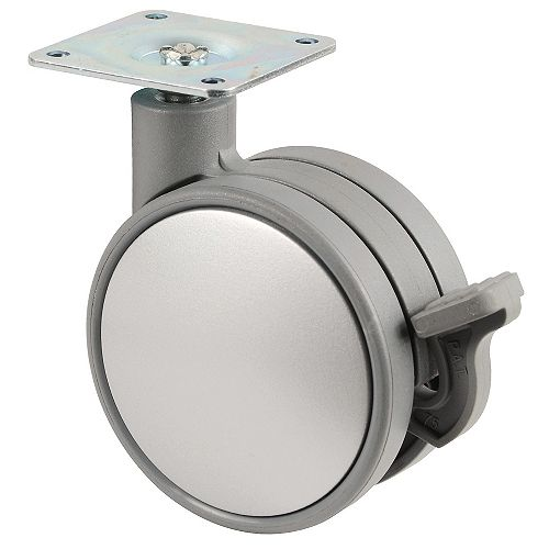 Richelieu Contemporary Twin Wheel Casters - Plate