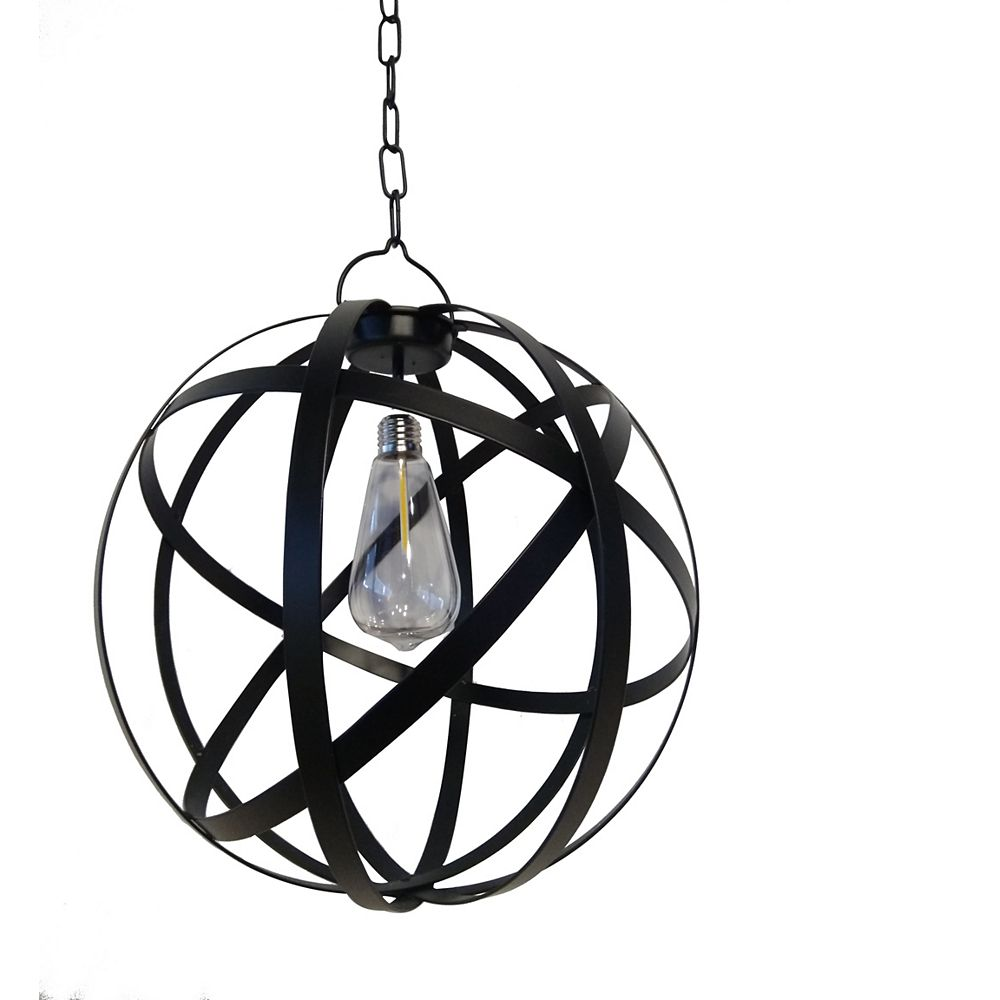Solar Sanctuaries G Light Collection Led Battery Operated Outdoor Globe Gazebo Pendant Lig The Home Depot Canada