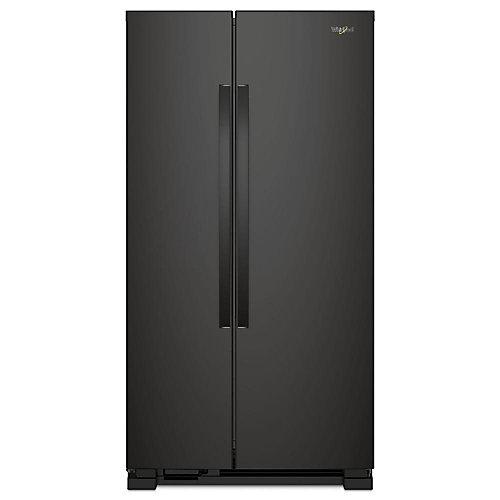 33-inch 22 cu. ft. Side by Side Refrigerator in Black