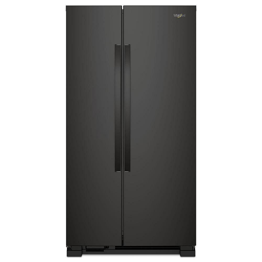 Whirlpool Réfrigérateur de 33 po. 22 pi. cu. côte à côte en noir
