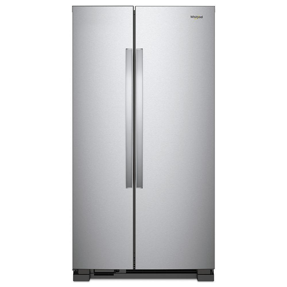 Whirlpool 33-inch 22 cu. ft. Side by Side Refrigerator in Monochromatic Stainless Steel
