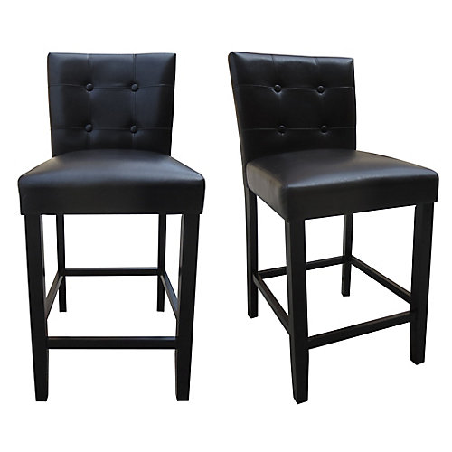25-inch Counter Height Parson Chair (Set of 2)