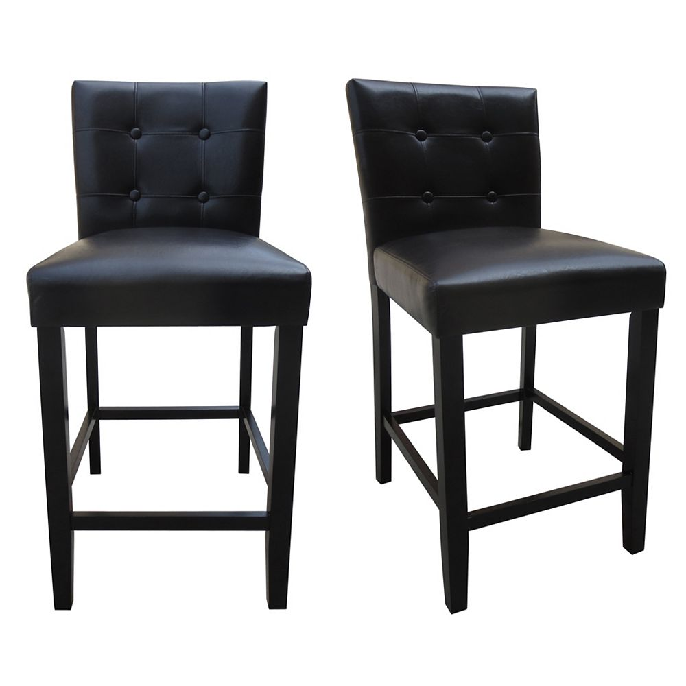 DURAWOOD 25-inch Counter Height Parson Chair (Set of 2)