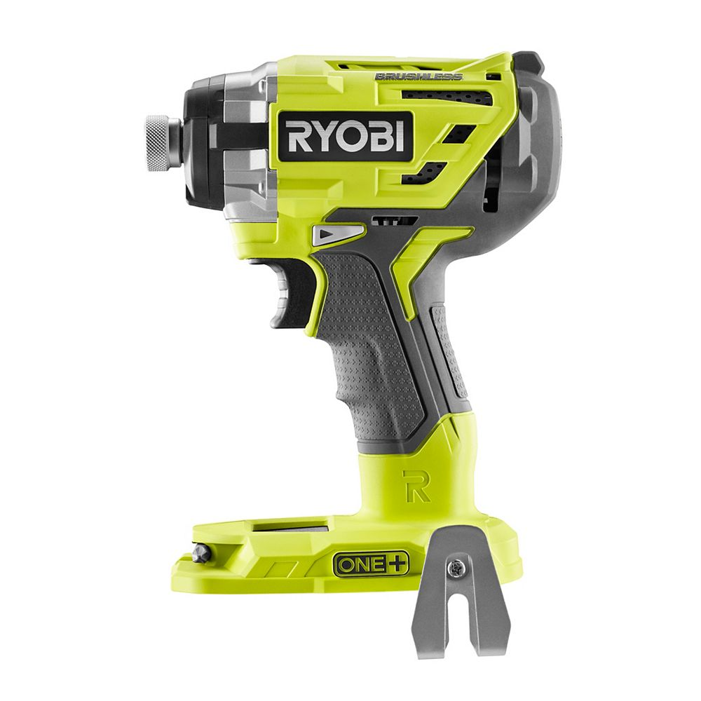 RYOBI 18V ONE+ Cordless Brushless 3-Speed 1/4-inch Hex Impact Driver (Tool Only) with Belt Clip