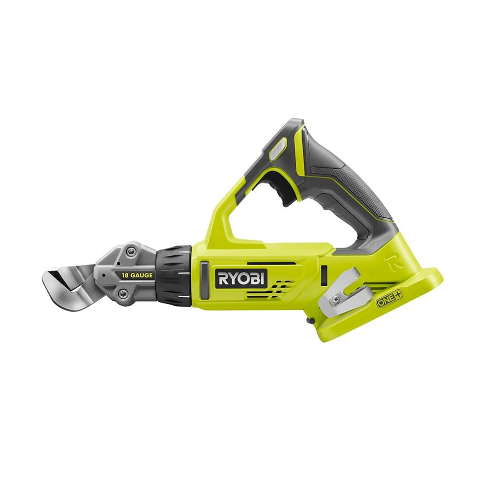 Ryobi 18v One 18 Gauge Cordless Offset Shear Tool Only The Home Depot Canada