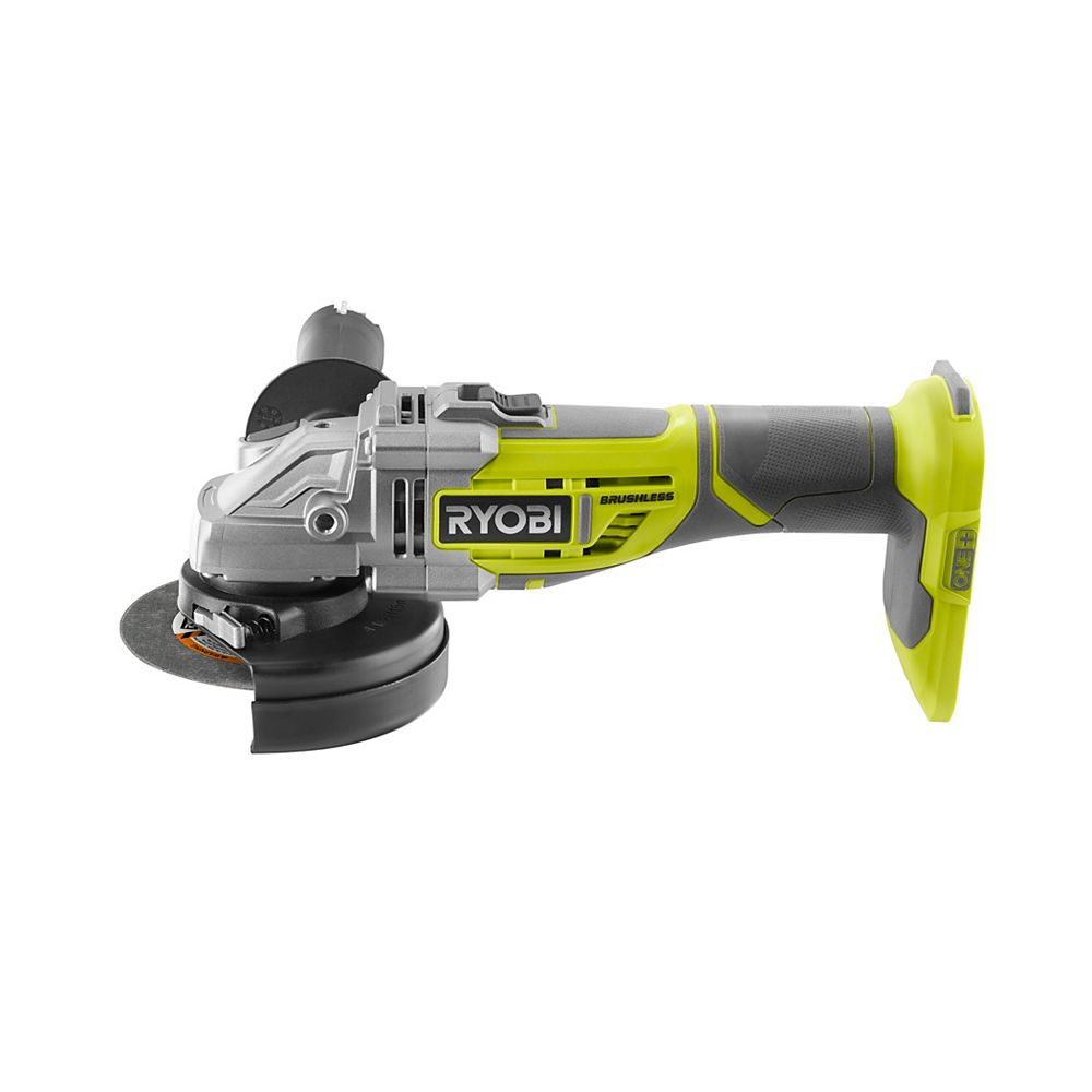 RYOBI 18V One+ Cordless Brushless 4-1/2-inch Cut-Off Tool/Angle Grinder (Tool Only)