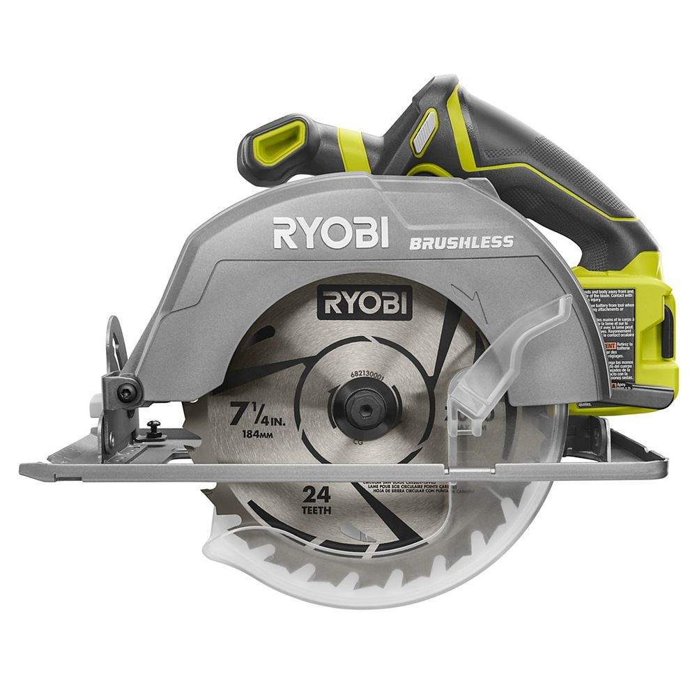 RYOBI 18V ONE+ Cordless Brushless 7-1/4-Inch Circular Saw (Tool Only)