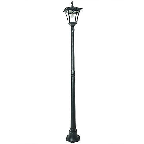 1-Light 50 Lumen Black LED Solar Outdoor Post Light