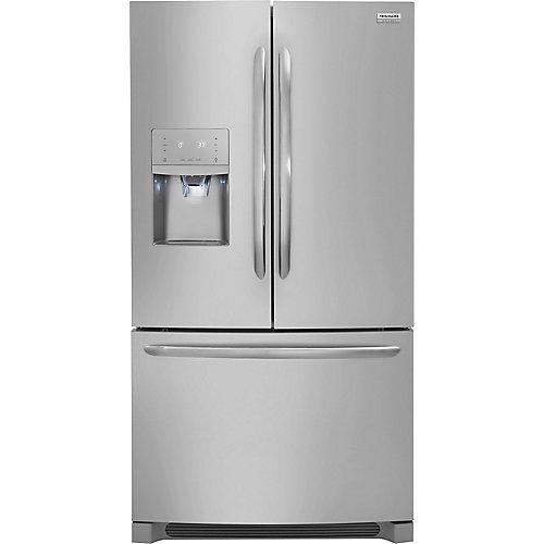 Réfrigérateur à porte française de 36 po W 21,7 pi3 en acier inoxydable, profondeur du comptoir - ENERGY STAR®
