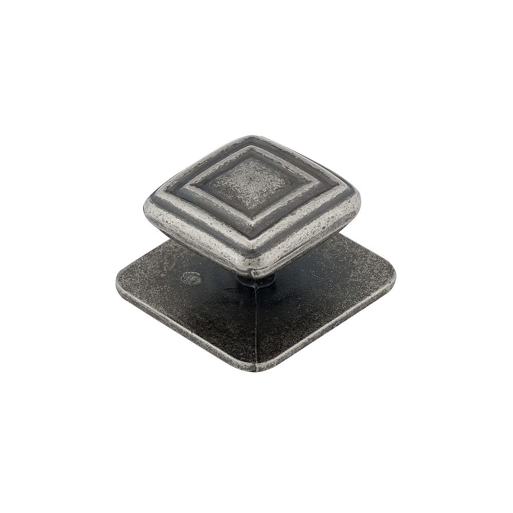 Richelieu 1 3/4 in (45 mm) x 1 3/4 in (45 mm) Western Pewter Transitional Cabinet Knob