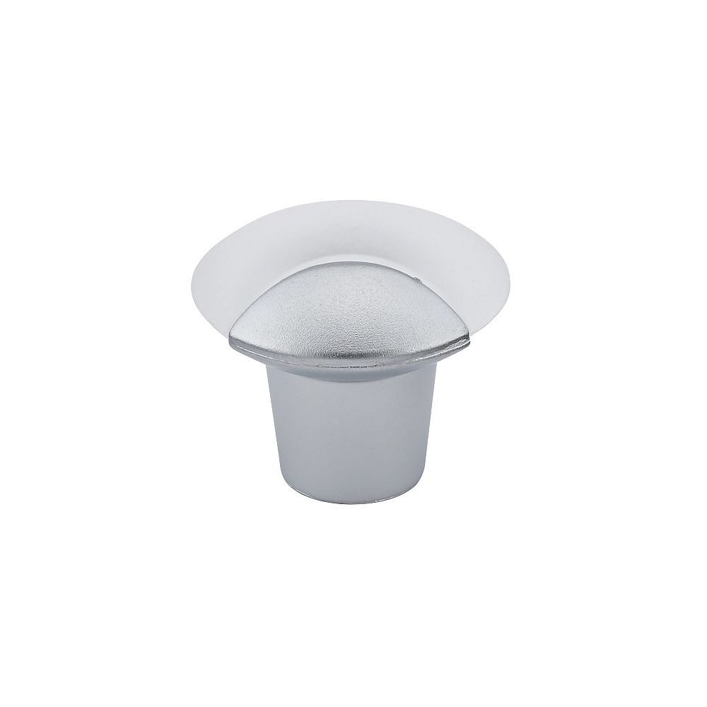 Richelieu Gela Collection 1 5/32 in (29 mm) Frosted Clear Contemporary Cabinet Knob
