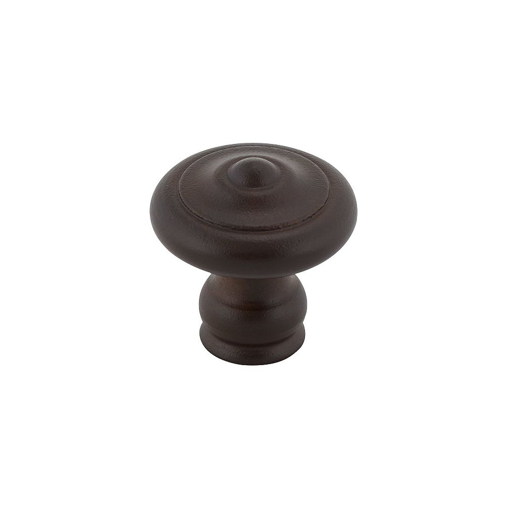 Richelieu 1 3/16 in (30 mm) Rust Traditional Cabinet Knob
