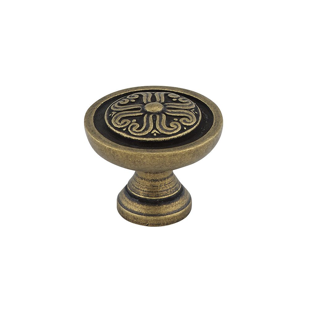 Richelieu 31/32 in (25 mm) Antique English Traditional Cabinet Knob