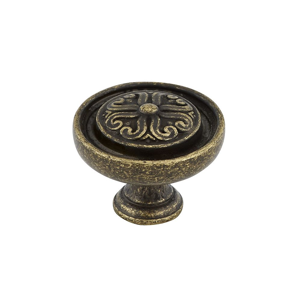 Richelieu 1 3/16 in (30 mm) Antique English Traditional Cabinet Knob