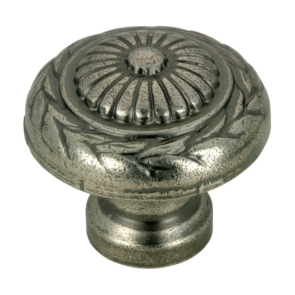 Richelieu 31/32 in (25 mm) Pewter Traditional Cabinet Knob