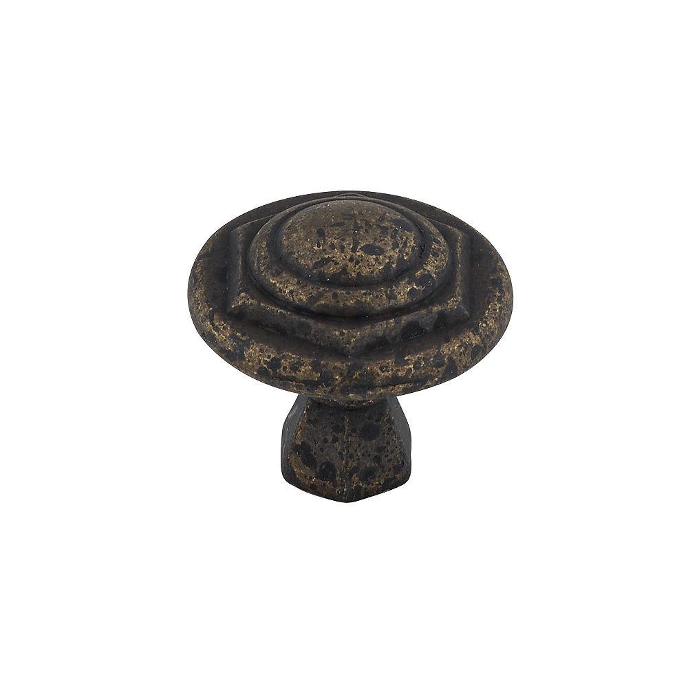 Richelieu 1 1/16 in (27 mm) Spotted Bronze Traditional Cabinet Knob