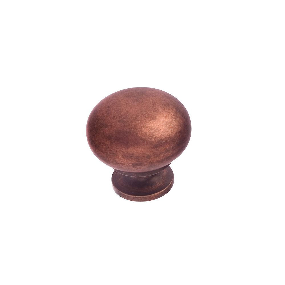Richelieu Varennes Collection 1 1/4 in (32 mm) Antique Copper Traditional Cabinet Knob