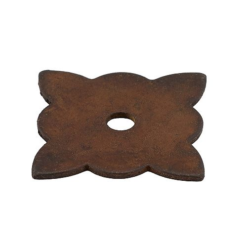 1 3/8 in (35 mm) x 1 3/8 in (35 mm) Rust Traditional Decorative Backplates