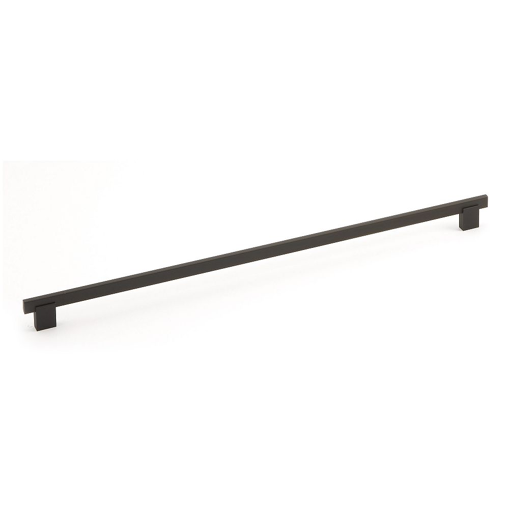 Richelieu Madison Collection 18 7/8 in (480 mm) Center-to-Center Matte Black Contemporary Cabinet Pull