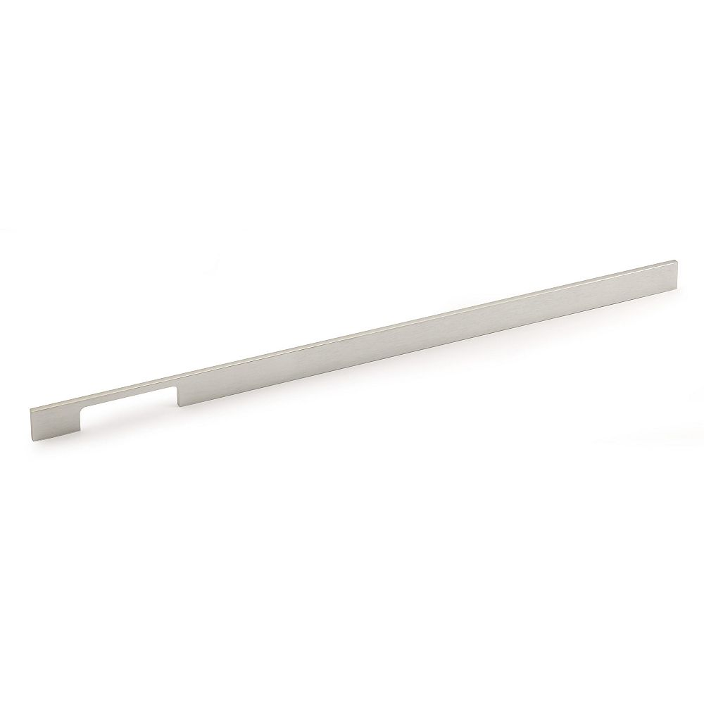 Richelieu Aversa Collection 21 3/8 in (544 mm) Center-to-Center Brushed Nickel Contemporary Cabinet Pull